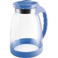 Кувшин 2500мл, жаропрочн.стекло, ручка пластик, Brocca-2500, синий, 910116 Mallony