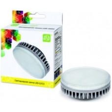 ASD GX53 светодиодный 10W 3000K 2K 74x29 рифл. стекло пластик standard 5119