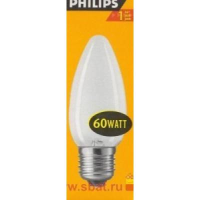 Philips B35 E27 60W свеча матовая 4214