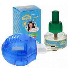 ARGUS baby Комплект детский От комаров 45 ночей (фумигатор универс. с индикат+жидк 30мл) без запаха