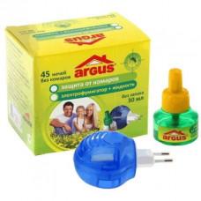 ARGUS Комплект От комаров 45 ночей (фумигатор универс. с индикат+жидк 30мл) без запаха