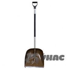 Лопата снеговая пластиковая в сборе с планкой №3 400х380 d-35мм