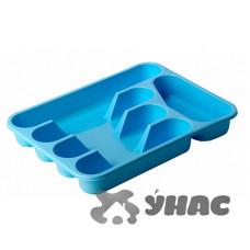 Лоток для столовых приборов голубой М 1140
