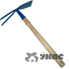 Мотыжка 010909 МК-2м (прям.ч+2зуб)деревянная ручка ИА