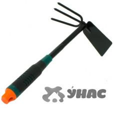 Мотыжка -рыхлитель JD-6021E комбин.-лопатка пластиковая ручка САДОВИТА