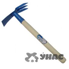 Мотыжка 011001 МКП-3-1 с деревянной ручкой (прям.ч.+3зуб)ИА