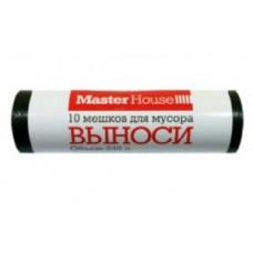 """Мешки для мусора 240л/10шт, 25мк, ПВД, рулон, черные, """"ВЫНОСИ"""" 60359 MasterHouse"""