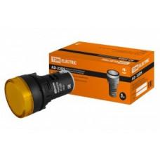 TDM лампа AD-22DS(LED) матрица d22мм желт. 230В (10!) SQ0702-0003