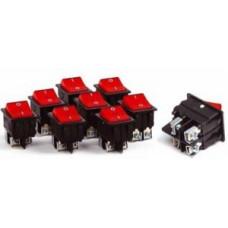 HOROZ выключатель -кнопка СУ для эл/приборов 16А 250В 300-000-709 (уп. 150шт, цена за 1шт)