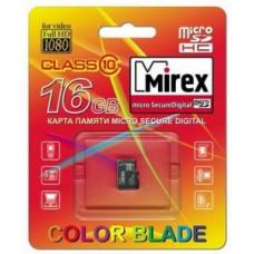 Ф/к MicroSDHC 16Gb class10 MIREX без адаптера