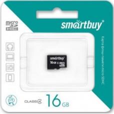 Ф/к MicroSDHC 16GB Class4 SmartBuy без адаптера