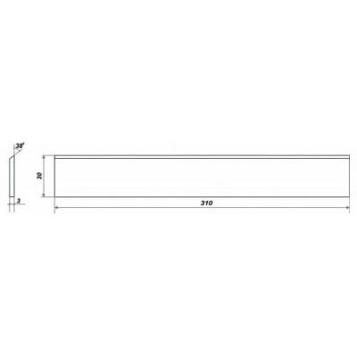 Нож для универсального станка 310х30х3 мм 3 шт
