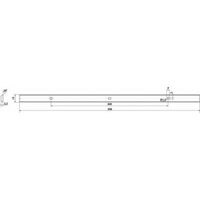 Нож для рейсмусового станка 308х11,8х1,4 мм 2 шт