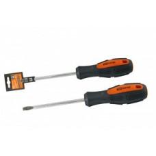 TDM Алмаз отвертка (-) CR-V тип SL6.5x150, ручка 2-х компонентная, магнит SQ1006-1010