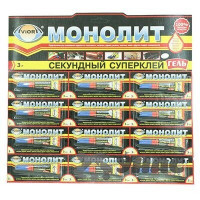 Клей Монолит Гель 3г 403-202 (цена за лист 12шт)