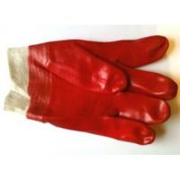 Перчатки х/б с ПВХ покр. двойным (МБС) Гранат (полный облив, манжет резинка) бордовые