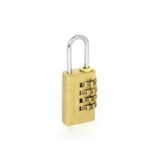 PALLADIUM 401B-20 Замок навесной кодовый Корпус Ш21*В35мм, Дужка d=3мм, Ш9*В22мм, латунь (BL)