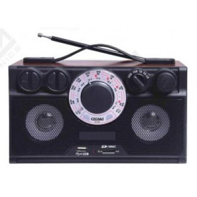 "Радиоприемник БЗРП РП-304"", УКВ/СВ/КВ, 4xR20, 220V, USB,SD, стерео, 24х9.5х14.5 см."