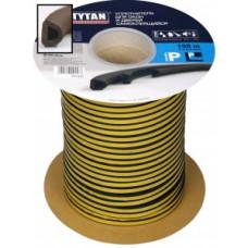 Уплотнитель D-профиль 9*7,5мм TYTAN (Титан) 100м (2*50м) белый резиновый самокл., арт.91454