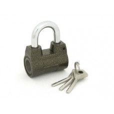 PALLADIUM 602A Замок навесной, Корпус Ш56*В43мм, Дужка d=9мм, В37мм, 3 диск.ключа, алюминий (BL)