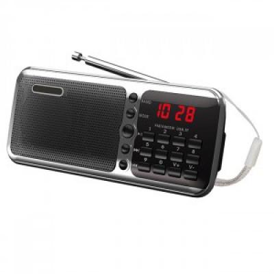 "Радиоприемник ""Сигнал РП-226"", 2xR6, 220V, FM, USB, microSD, дисплей, без б/п, 111х29х63 мм черный"
