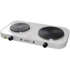 Электроплитка ENERGY EN-903, 2 конфорки, диск, 1,5кВт + 1кВт, белая 158903