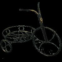 """Подставка для цветов """"Велосипед"""" черный ПДЦ 232Ч"""