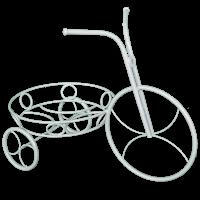 """Подставка для цветов """"Велосипед"""" бел. сер.ПДЦ 232 БС"""