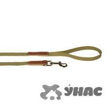 Поводок брезентовый комбинированный с кожей, ширина 20 мм, длина 3,0 м 02120015