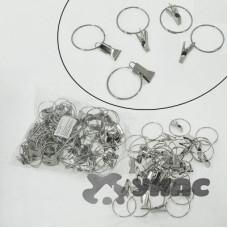Прищепки для штор металлические с кольцом 100шт NA1168-2