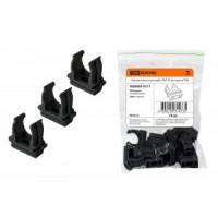 TDM крепеж-клипса для трубы 16 мм (10шт, в уп. цена за шт.) черная SQ0405-0111