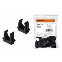 TDM крепеж-клипса для трубы 20 мм (10шт, в уп. цена за шт.) черная SQ0405-0112