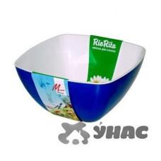 Салатник Двухцветный 140*140 мм МилихПластик02014