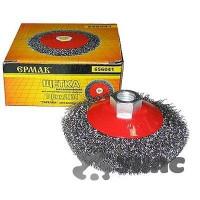Щетка ЕРМАК металлическая для УШМ 100 мм/М14 тарелка 656-041