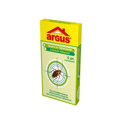 От тараканов и муравьев ловушка клеевая ДОМИК 4шт/уп, цена за уп Argus арт.AR-4466