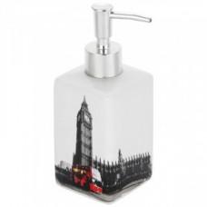 Дозатор для жидкого мыла Лондон, керамика, DIS-L, 2904 Рыжий Кот