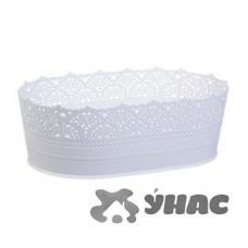 Сухарница АЖУР 22 см Белый М1190