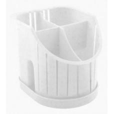 Сушилка для столовых приборов 4х-секц. мрамор, пластик ПЦ1550МР Plastic Centre