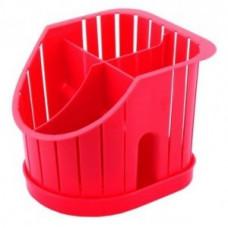 Сушилка для столовых приборов 4х-секц., красная, пластик ПЦ1550КР Plastic Centre