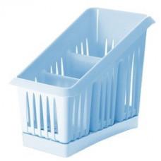 Сушилка для столовых приборов 3х-секц. Лилия, голубая, пластик ПЦ1564ГЛП Plastic Centre