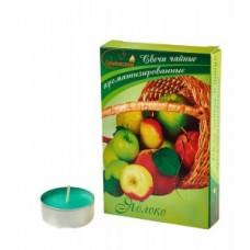 Свеча в гильзе цвет. аромат. Яблоко 6шт/уп, цена за уп, Chameleon, арт.С 00-09