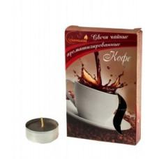 Свеча в гильзе цвет. аромат. Кофе 6шт/уп, цена за уп, Chameleon, арт.С 00-20