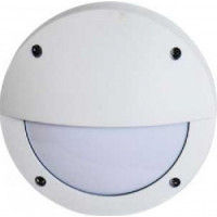 Ecola B4140S светильник матов.Круг с реснич.белый алюм.1*GX53 IP65 145х145х65 FW53ESECS