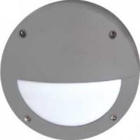 Ecola B4140S светильник матов.Круг с реснич.серый алюм.1*GX53 IP65 145х145х65 FS53ESECS
