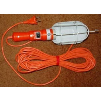 ЛСУ-1 светильник переноска E27 60W 220V (АС) 10м с выкл. (ПВС)