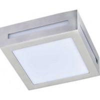 Ecola 3082W светильник матов.квадр.металл.сатин-хром IP65 1xGX53 136х136х55 FS53SSECH