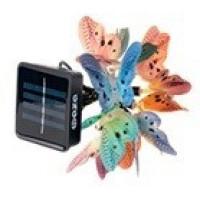 ФАЗА SLR-G02 светильник на солнечной батарее 10LED белый, гирлянда разноцветные бабочки ,3,5метра