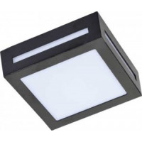 Ecola 3082W светильник матов.квадр.металл.черный IP65 1*GX53 136х136х55 FB53SSECH