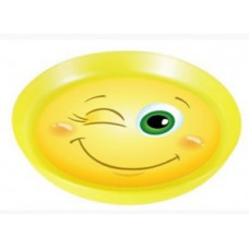 Тарелка детская Smiles 0,45л, гладкая кромка, пластик, LA4118 Little Angel