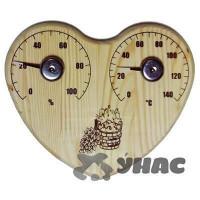 Банная станция открытая Термометр+Гигрометр сердце СБО-3тг